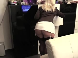 Hot & sexy blonde MILF can't hide her..