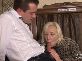 Naughty french mature hard sodomized in..