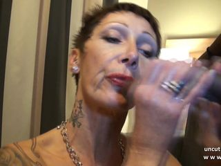 Busty french mature hard sodomized in..