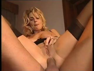 Exciting blonde cougar: pussy, anal and..