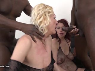 Granny mature group sex pussy fucked..