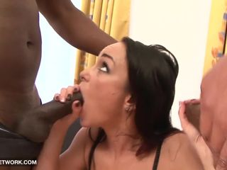 Babe in hardcore interracial fuck she..