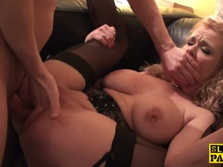 Analfucked brit skank fingered and..