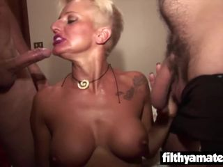Nasty Cougars loves ass fucking and..