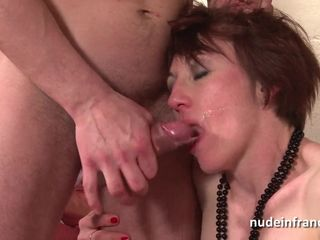 Naughty french housewife hard anal..