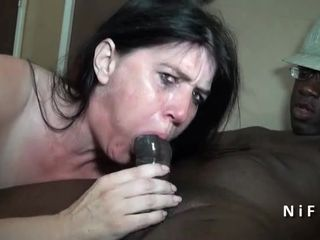 Naughty french mature hard analized by..