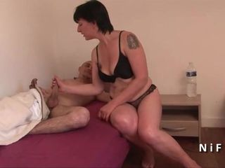 French mom seduces 2 younger guys and..