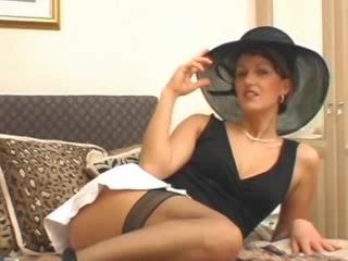 Mature in Hat & Stockings