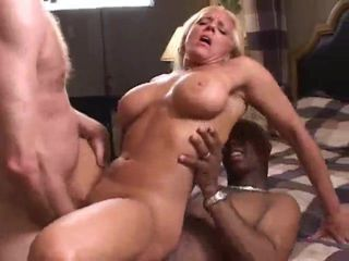 Wife enjoying two men