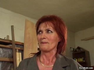 Nice titted redhead mature analized