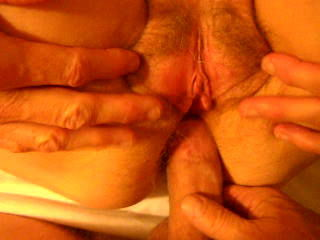 pounding her asshole and cumshot on..