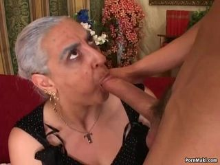 Granny First Huge Cock Anal