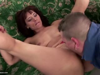 Son piss on and fucks hot mature mother
