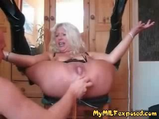 My MILF Exposed anal fisting mature wife..