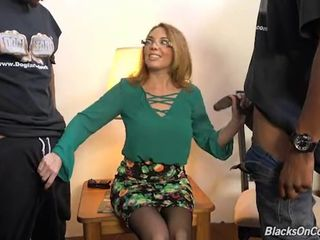 Mature mother Kiki fucked in all holes..