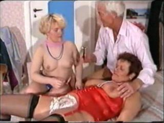 German Mature Threesome - Shaving,..
