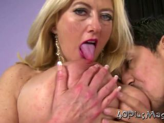 Busty Mature Blonde Aims To Please