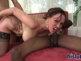 Interracial threesome session with a..