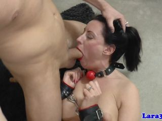 Cuffed milf brit analfucked while..