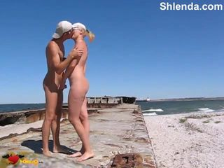 Beautiful skinny mature milf mom outdoor..