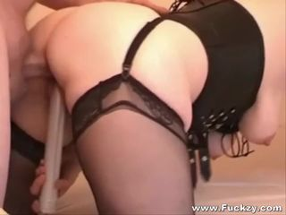 Chubby Slutwife In Nylons Drilled In..