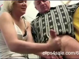 Crazy fucking german whore torturing old..