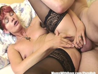 Lovely Granny Maid In Sexy Stockings..
