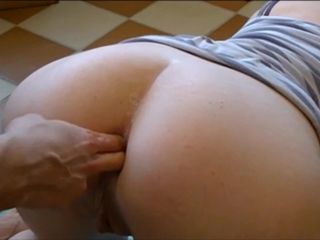Close-up anal fingering and massage..