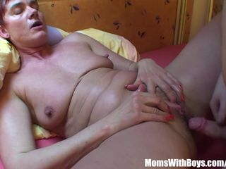 Resting Old Mama Receives A Hard Anal..
