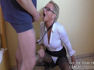 Pissing and Ass-Fisting Submissive MILF..