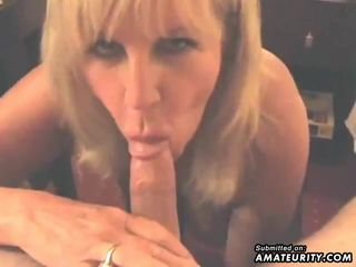 amateur blonde mature knows how to take..