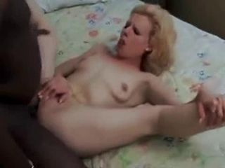Hot Blonde Takes Black In The Ass