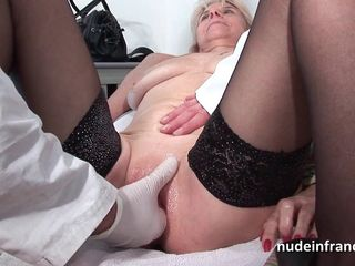 Mature fisted and sodomized in a french..