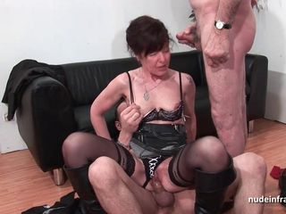 French mature hard sodomized and DP in..