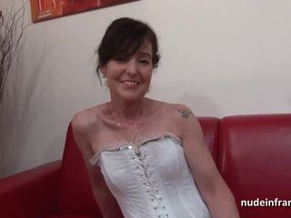 French squirt mature cougar hard double..