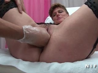 FFM Mature cougar anal plugged and..