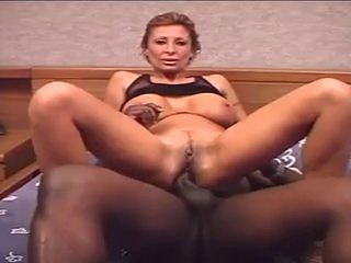 Sexy redhead milf brigette interracial anal fucking