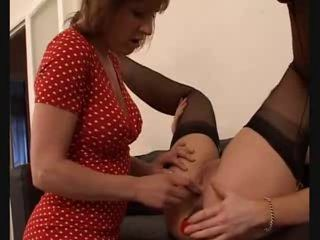Mature and MILf in nylons licking and..