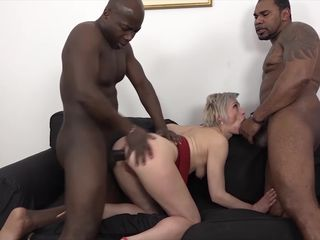 Mature Gets Black Cocks In Her Pussy And..