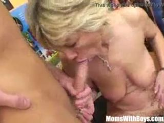 Sexy Blonde Granny In Laced Stockings..